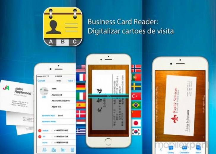 Salve contatos no ios diretamente de cartes de visita com o business card reader pro reheart Image collections